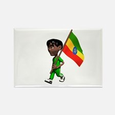 Ethiopia Boy Rectangle Magnet