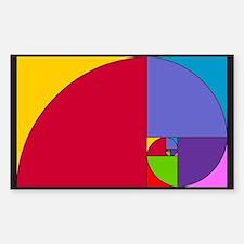 Pop Art Fibonacci Bumper Stickers