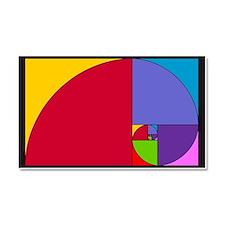 Pop Art Fibonacci Car Magnet 20 x 12