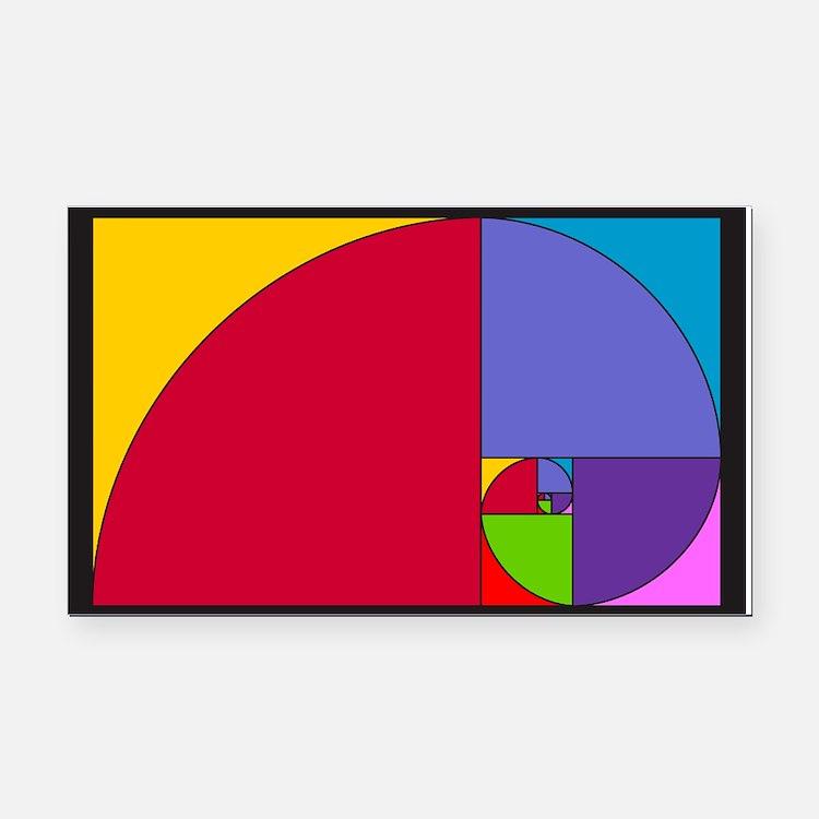 Pop Art Fibonacci Rectangle Car Magnet