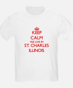 Keep calm we live in St. Charles Illinois T-Shirt