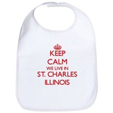 Keep calm we live in St. Charles Illinois Bib