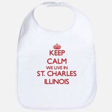 Keep calm we live in St. Charles Illinois Bib