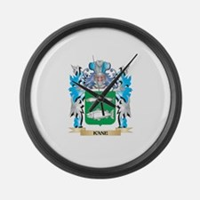 Kane Coat of Arms - Family Crest Large Wall Clock