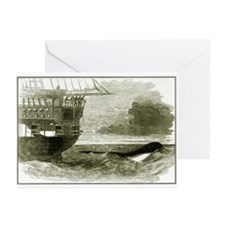 1848 Sea Serpent Greeting Cards (Pk of 10)
