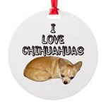 Chihuahua.jpg Round Ornament