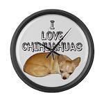 Chihuahua.jpg Large Wall Clock