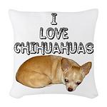 Chihuahua.jpg Woven Throw Pillow