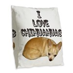 chihuahua.jpg Burlap Throw Pillow