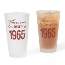 Awesome Since 1965 Drinking Glass
