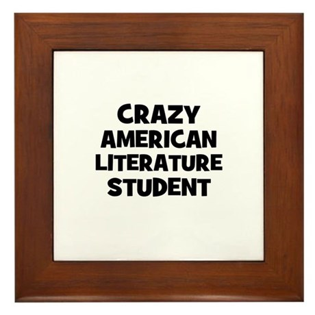 Crazy American Literature Stu Framed Tile