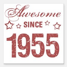 """Awesome Since 1955 Square Car Magnet 3"""" x 3"""""""