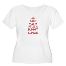 Keep calm we live in Summit Illi Plus Size T-Shirt