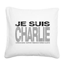 Je Suis Charlie Square Canvas Pillow