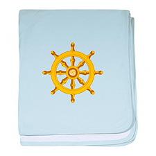 DHARMA BUDDHISM WHEEL baby blanket