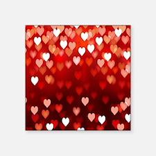 """1,2,3,4,5.....hearts Square Sticker 3"""" x 3"""""""
