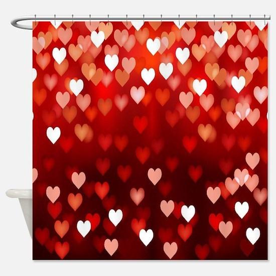 1,2,3,4,5.....hearts Shower Curtain