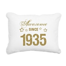 Awesome Since 1935 Rectangular Canvas Pillow