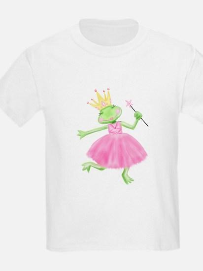 Sweet Little Frog Princess Kids T-Shirt