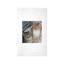 Tabby Kitty Cats Area Rug