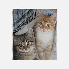 Tabby Kitty Cats Throw Blanket