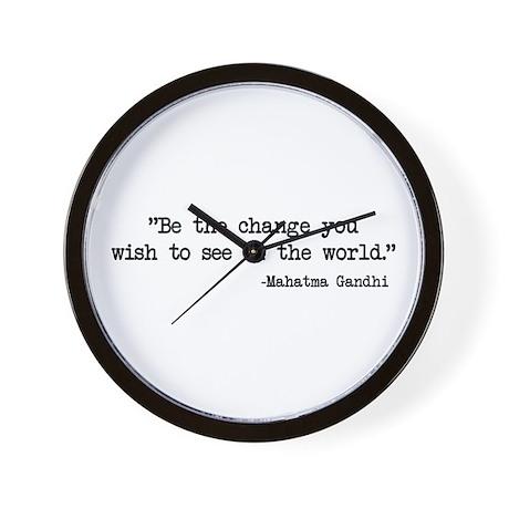 Be The Change - Ghandi Wall Clock