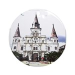 New Orleans Cathedral Round Ornament