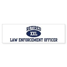 Retired Law Enforcement Offic Bumper Bumper Sticker