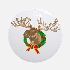 CHRISTMAS MOOSE Ornament (Round)