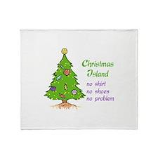 CHRISTMAS TREE ISLAND Throw Blanket