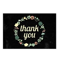 Floral Fancy Thank You Postcards (Package of 8)