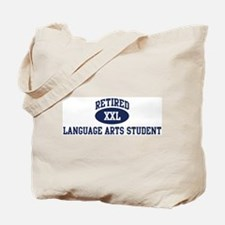 Retired Language Arts Student Tote Bag