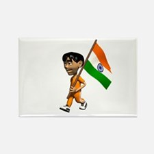 India Boy Rectangle Magnet
