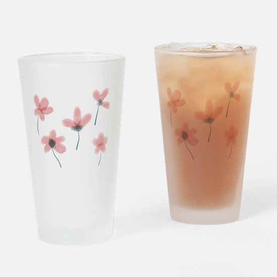 Soft Flower Drinking Glass