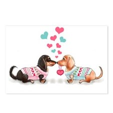 Doxie Valentine Postcards (Package of 8)