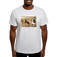Saluki Pair Ash Grey T-Shirt