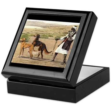 Saluki Pair Keepsake Box