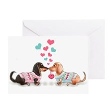 Doxie Valentine Greeting Cards