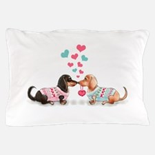 Doxie Valentine Pillow Case