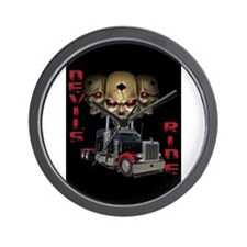 Devils Ride Wall Clock