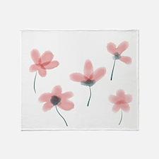 Soft Flower Throw Blanket