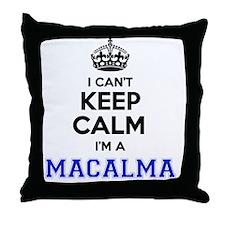 Funny I'm mac Throw Pillow