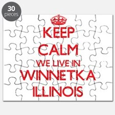 Keep calm we live in Winnetka Illinois Puzzle