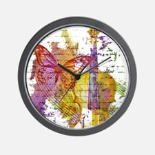 butterfly music Wall Clock