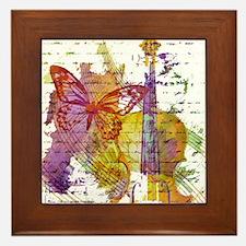 butterfly music Framed Tile