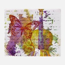 butterfly music Throw Blanket