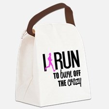 Cute Running Canvas Lunch Bag