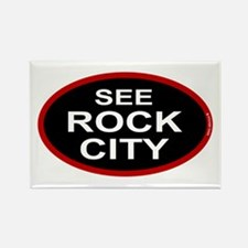 See Rock City Rectangle Magnet