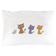 Emoji Cats Pillow Case