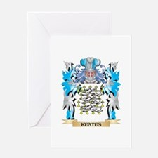 Keates Coat of Arms - Family Crest Greeting Cards